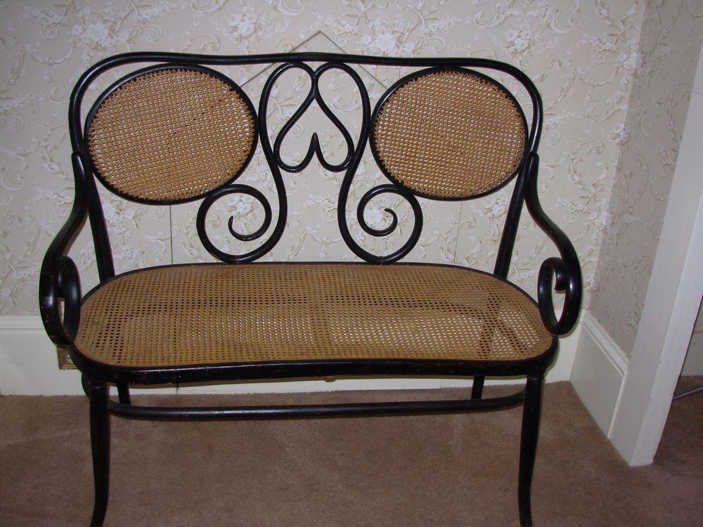 Coprisedie Thonet ~ Antique bentwood settee thonet khon thonet furniture