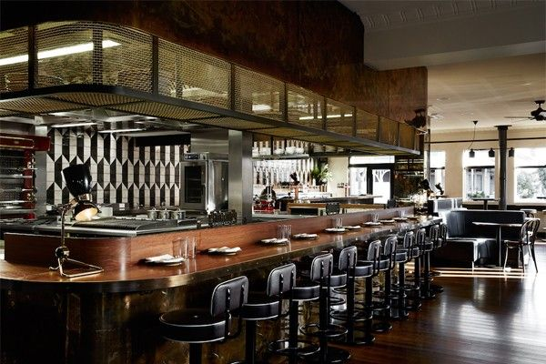 Melbourne restaurant fuses art deco with modern for Deco restaurant