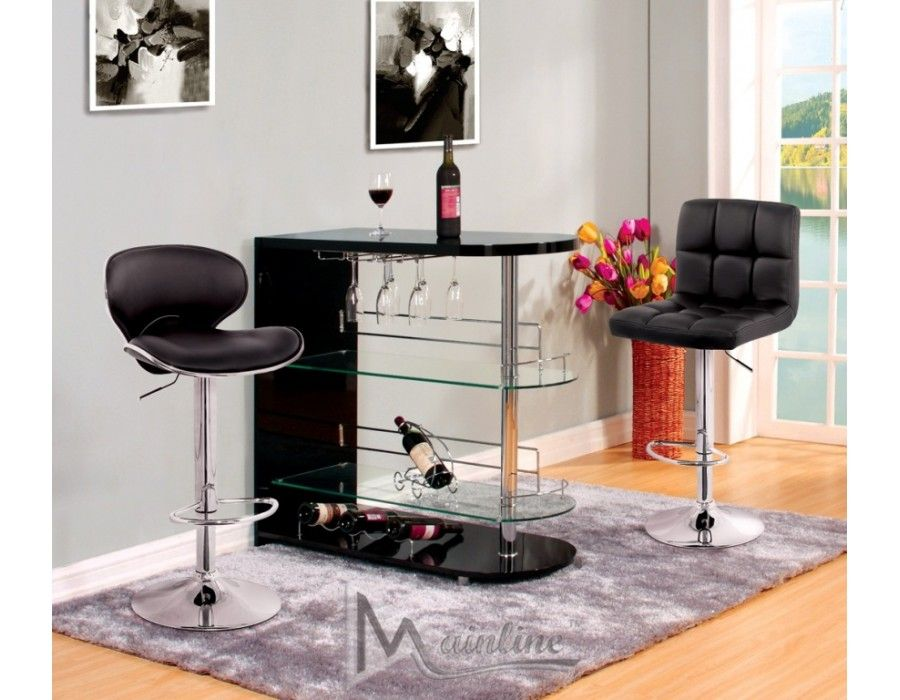 Odeon Bar Stand Table 2 StoolsDining Room Sets