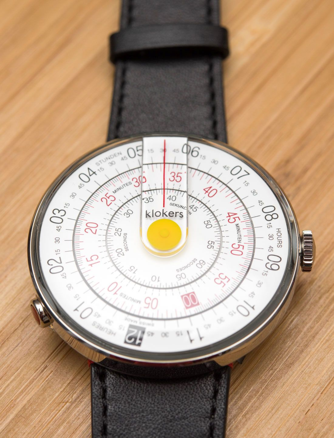 """Klokers Klok-01 Watch Review - by David Bredan - This unique piece actually harkens back to slide rules. More details at: aBlogtoWatch.com - """"I genuinely like the concept of new, creative, and affordable watches that can serve as a viable alternative in the fashion watch segment for those looking for something more unique. This is the Klokers Klok-01, a Swiss-made watch from a French company that promises to blend unusual but functional design and solid quality..."""""""
