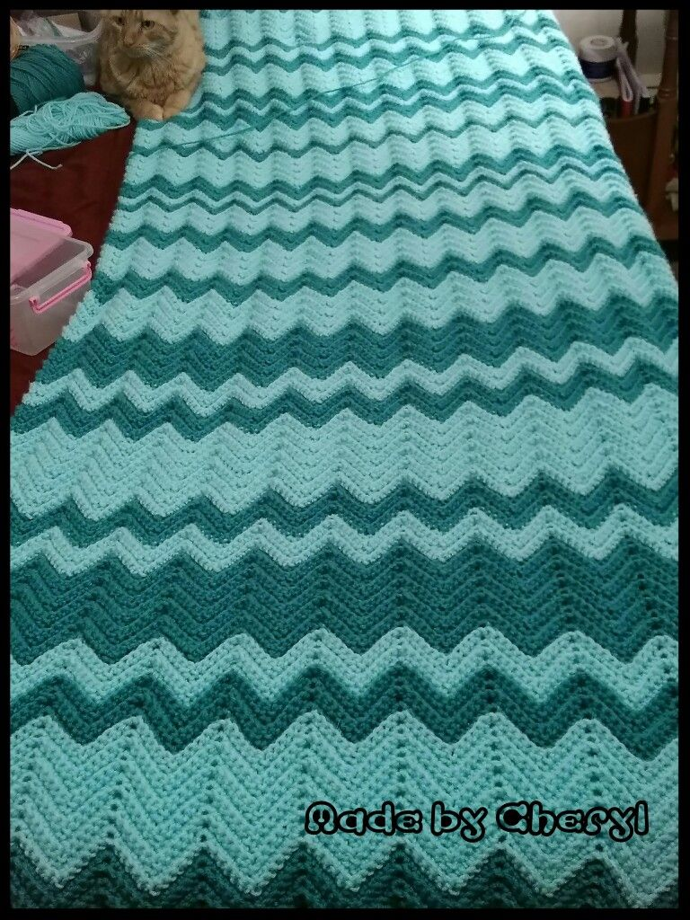Ripple twin size blanket its folded in half crochet blankets ripple twin size blanket its folded in half dt1010fo