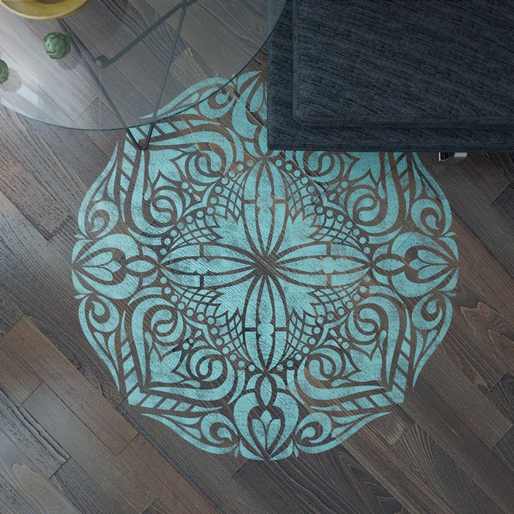 Amazing mandala style stencil for decoration original stencil mandala stencil floor stencil mandala floor stencil wall painting stencils mandala wall stencil amipublicfo Image collections