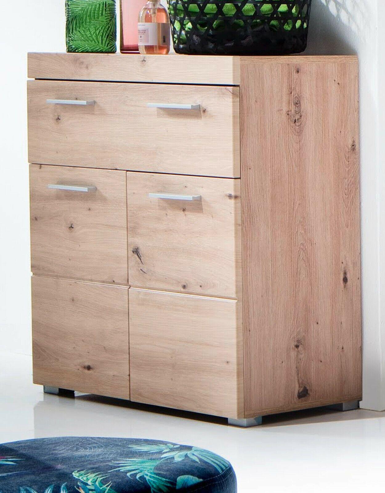 Badschrank Kommode Eiche Asteiche Unterschrank 73x 80 Cm Badezimmer Mobel Amanda Badezimmermobel Ideen In 2021 Badezimmer Mobel Kommode Eiche Badezimmermobel Holz