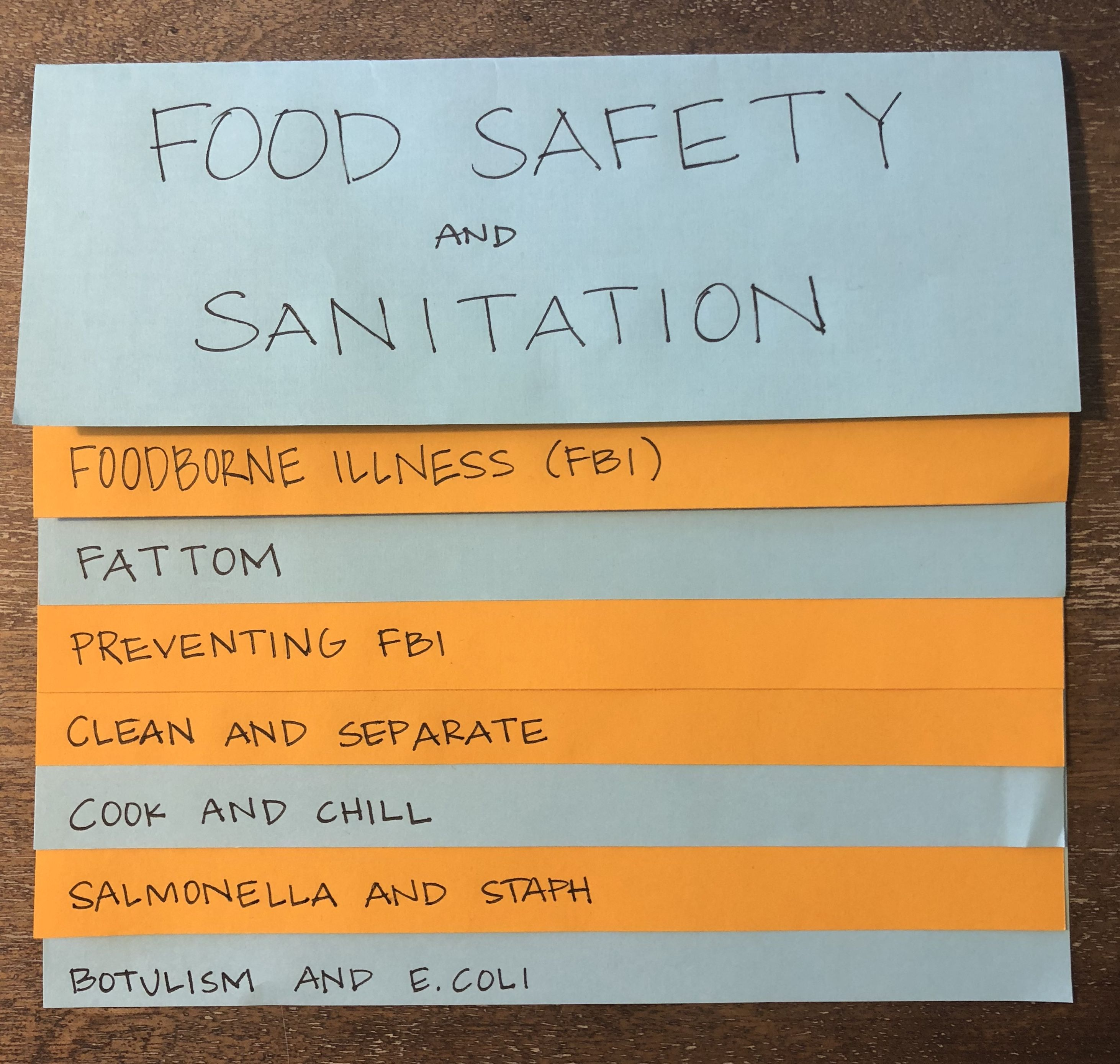 Food Safety and Sanitation: Powerpoint and student