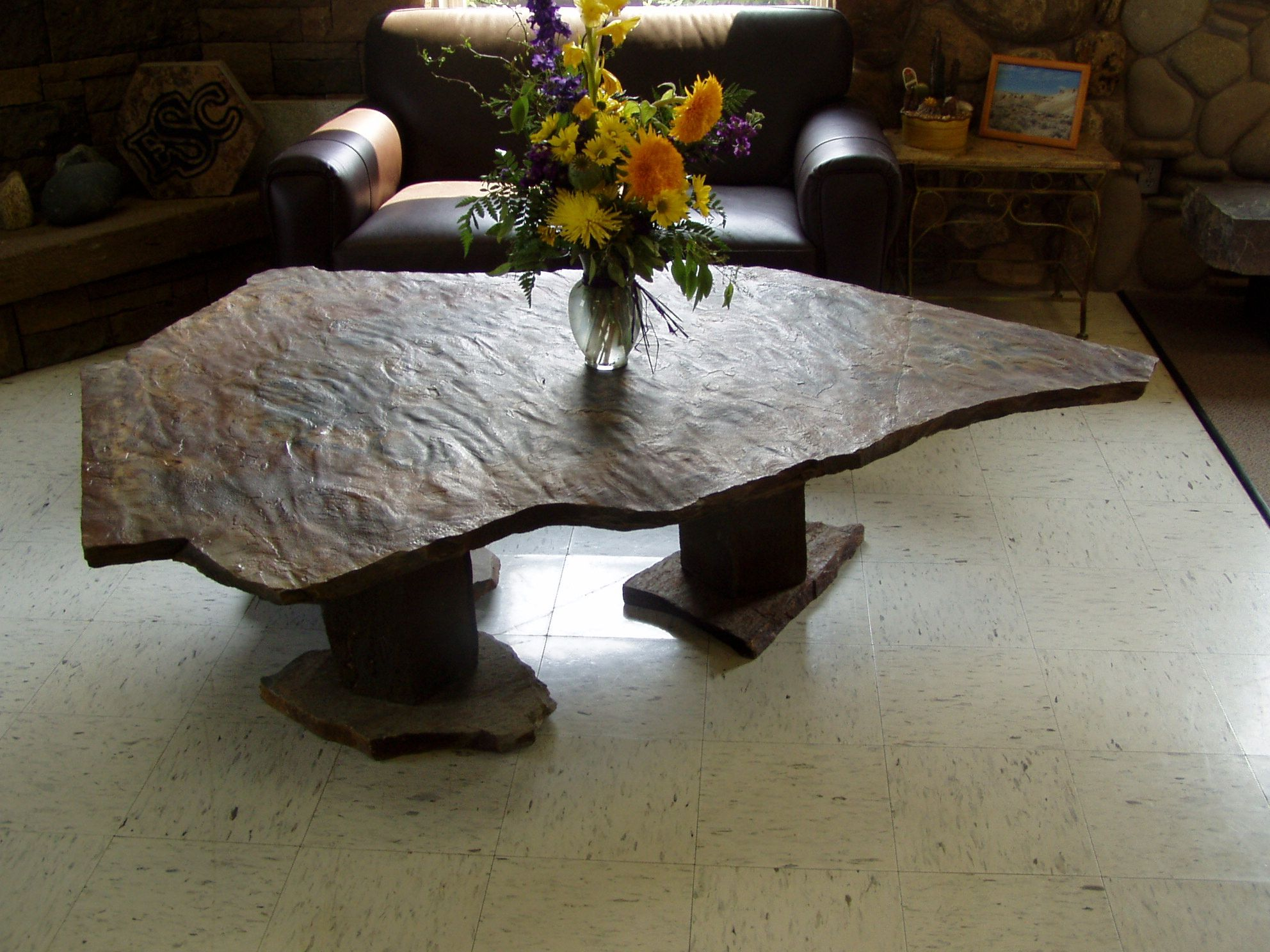Flagstone coffee table gallery coffee table design ideas oversize slab coffee table by empire stone company backyard oversize slab coffee table by empire stone geotapseo Images