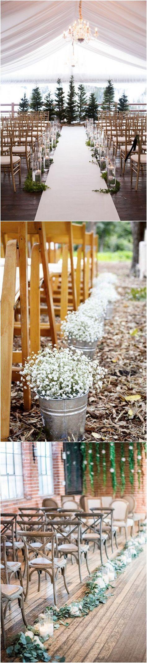20 Breathtaking Wedding Aisle Decoration Ideas to Steal ...