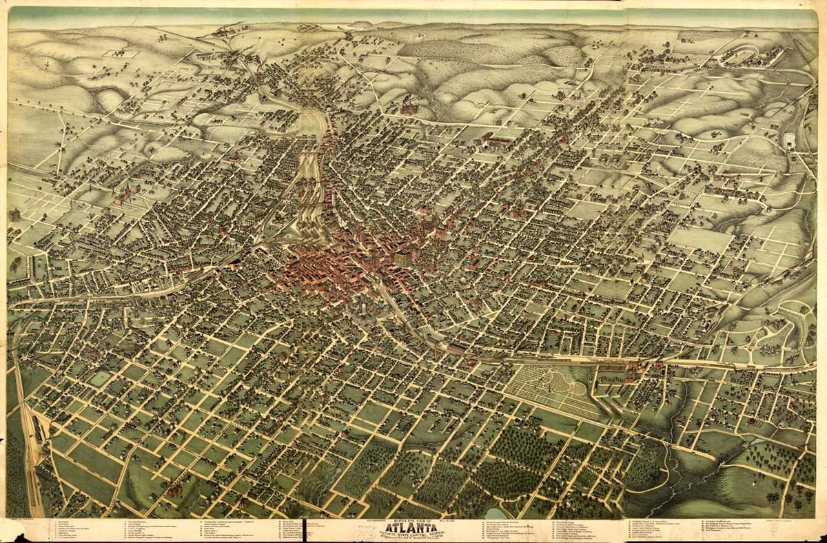 Atlanta Fulton Co State capital Georgia Atlanta
