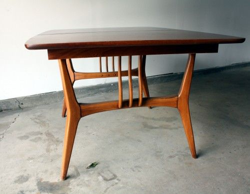 Mid century modern dining room table