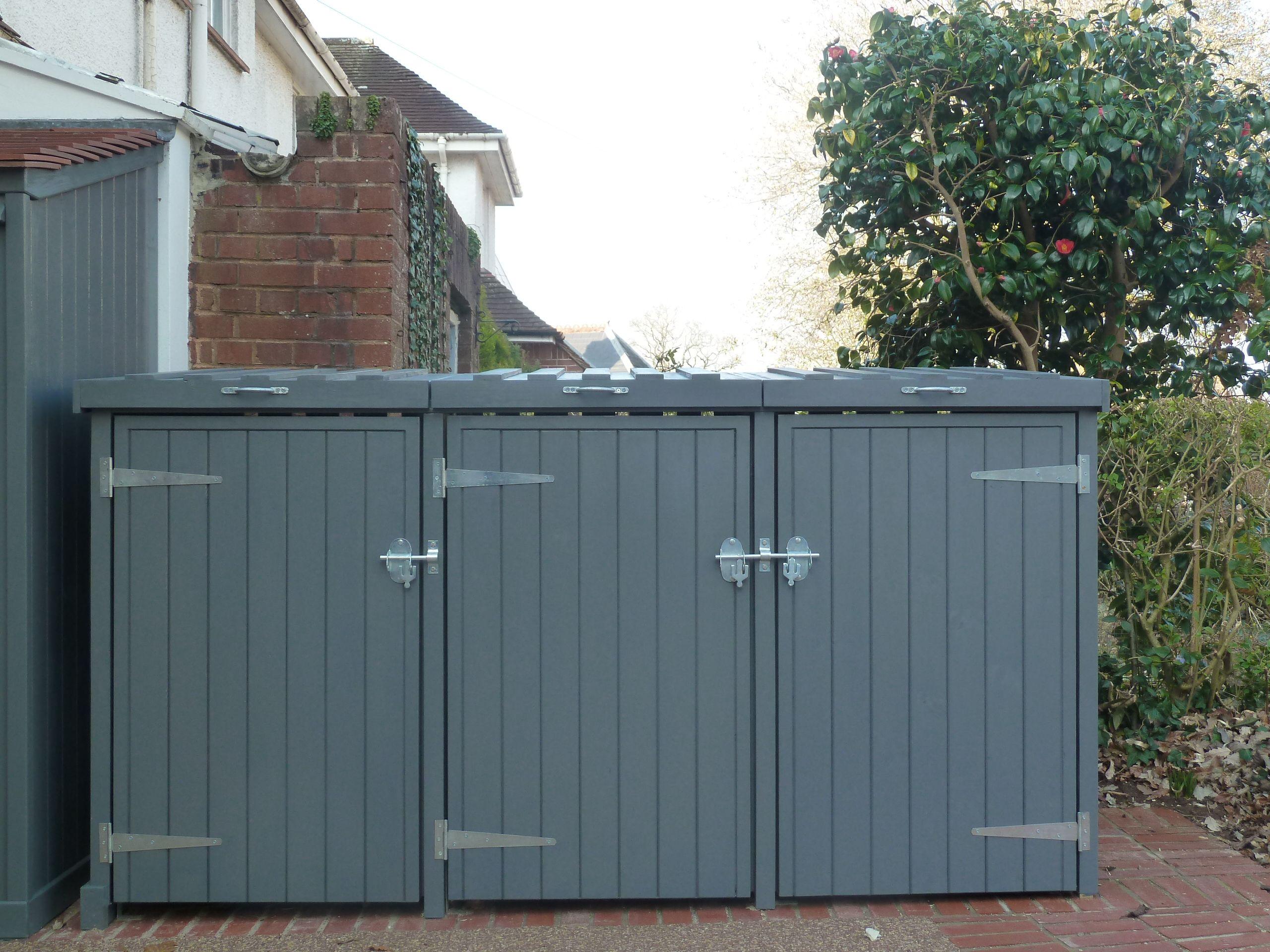 how to build a wheelie bin shed