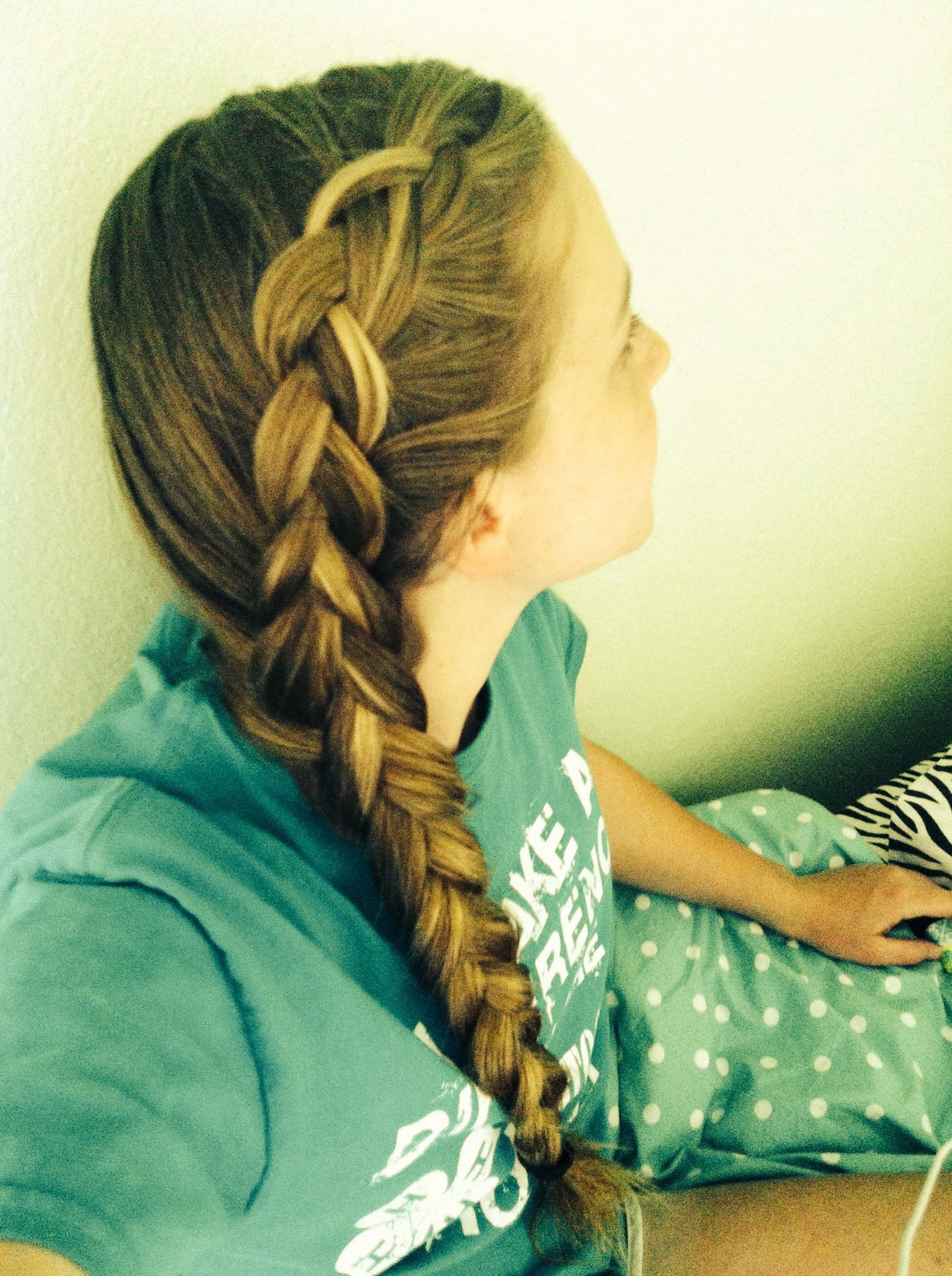 French dutch braid on the side easy to do on yourself braid