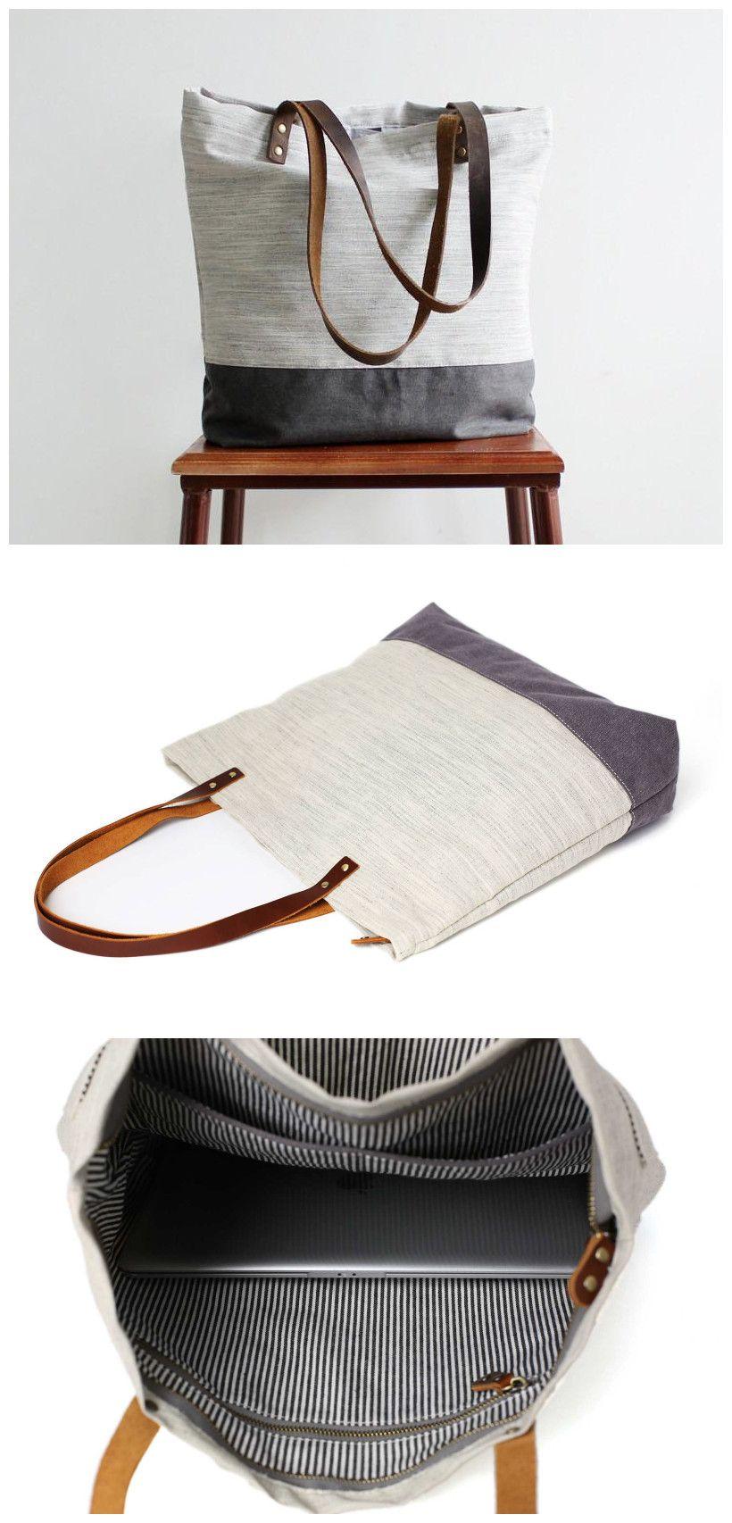 a174a12569ef Handmade Canvas Tote Bags Women Shoulder Bags College Handbags 14040