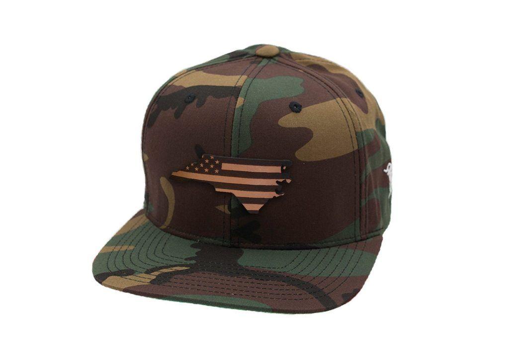 ee8a9e9e0ecdd North Carolina Patriot - Snapback Hat - Leather Patch - Branded Bills