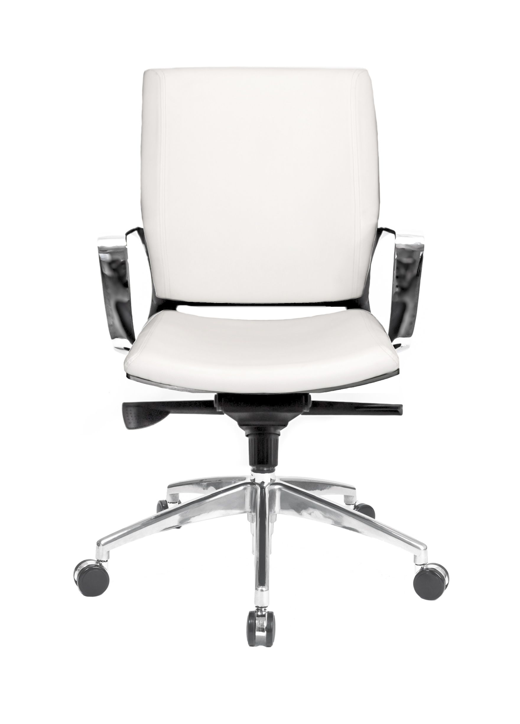 best at the office series alterna leather conference chair with fixed arms white with alterna. Black Bedroom Furniture Sets. Home Design Ideas