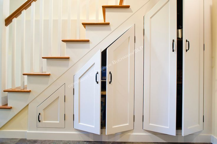 Under Stair Cabinet Built Ins Custom Cabinets The Stairs Maximize Storage In This Newly