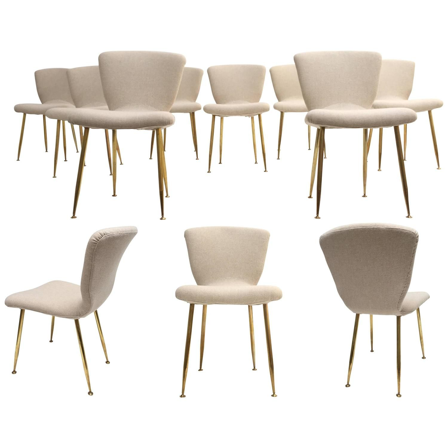 Stunning set of 12 dining chairs by Louis Sognot for ARFLEX,Italy 1959. RESTORED