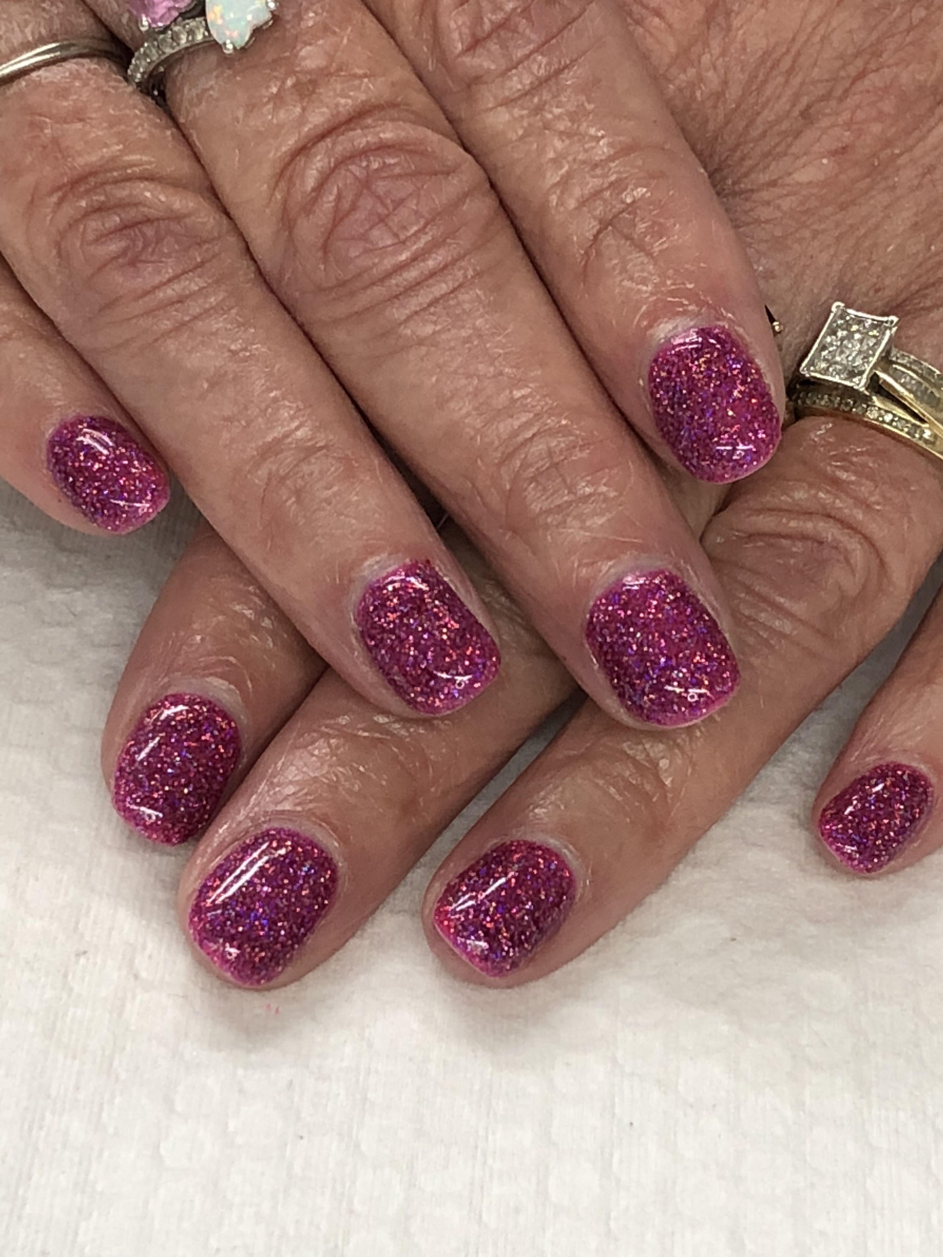 Raspberry Glitter Gel Nails Light Elegance Pinky Swear, Judy Garland ...