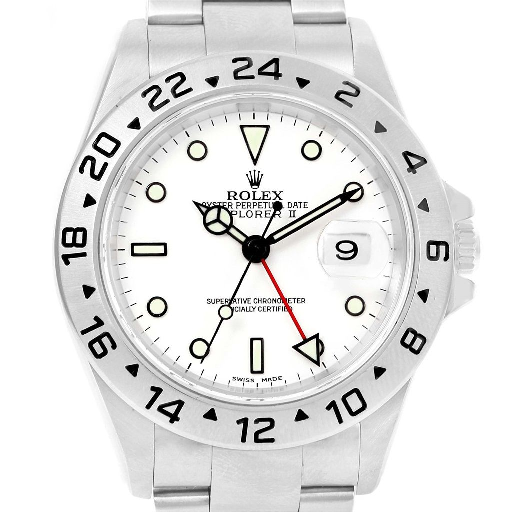 rolex explorer ii white dial oyster bracelet mens watch