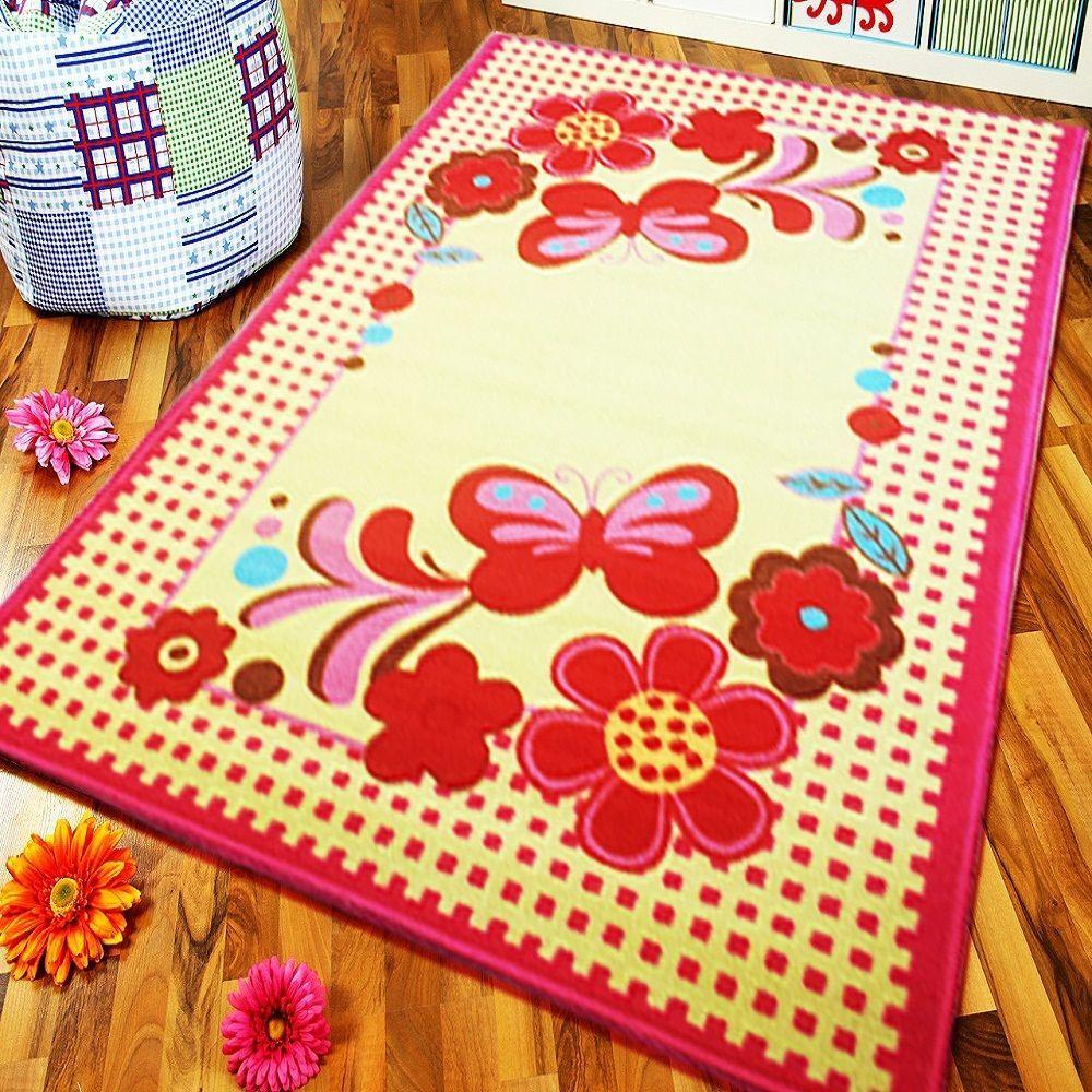 Flower Erfly Soft Kids Bedroom Playroom Floor Rug Play Mats Carpets Non Slip
