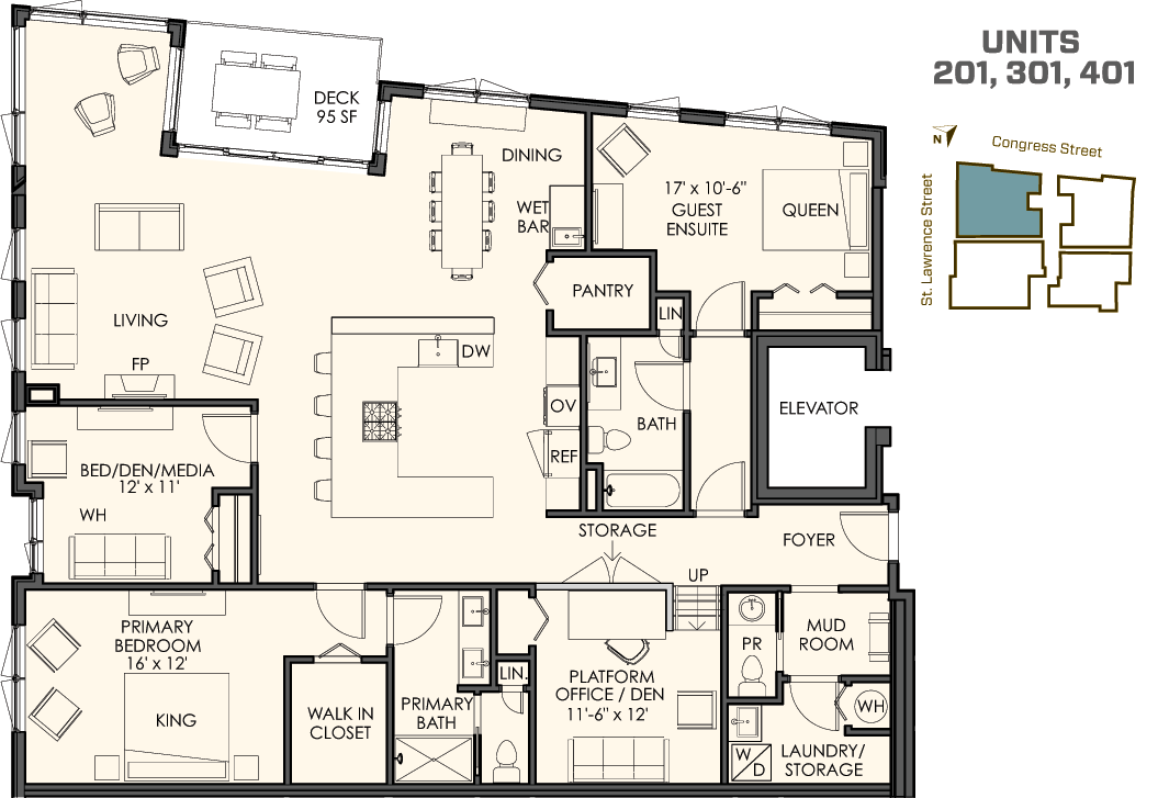 3 Bedrooms Plus A Den 2 1 2 Bathrooms 2 200 Sq Ft Plus A Spacious Deck The 01 Residences Start At 900 Condo Floor Plans Floor Plans Independent House