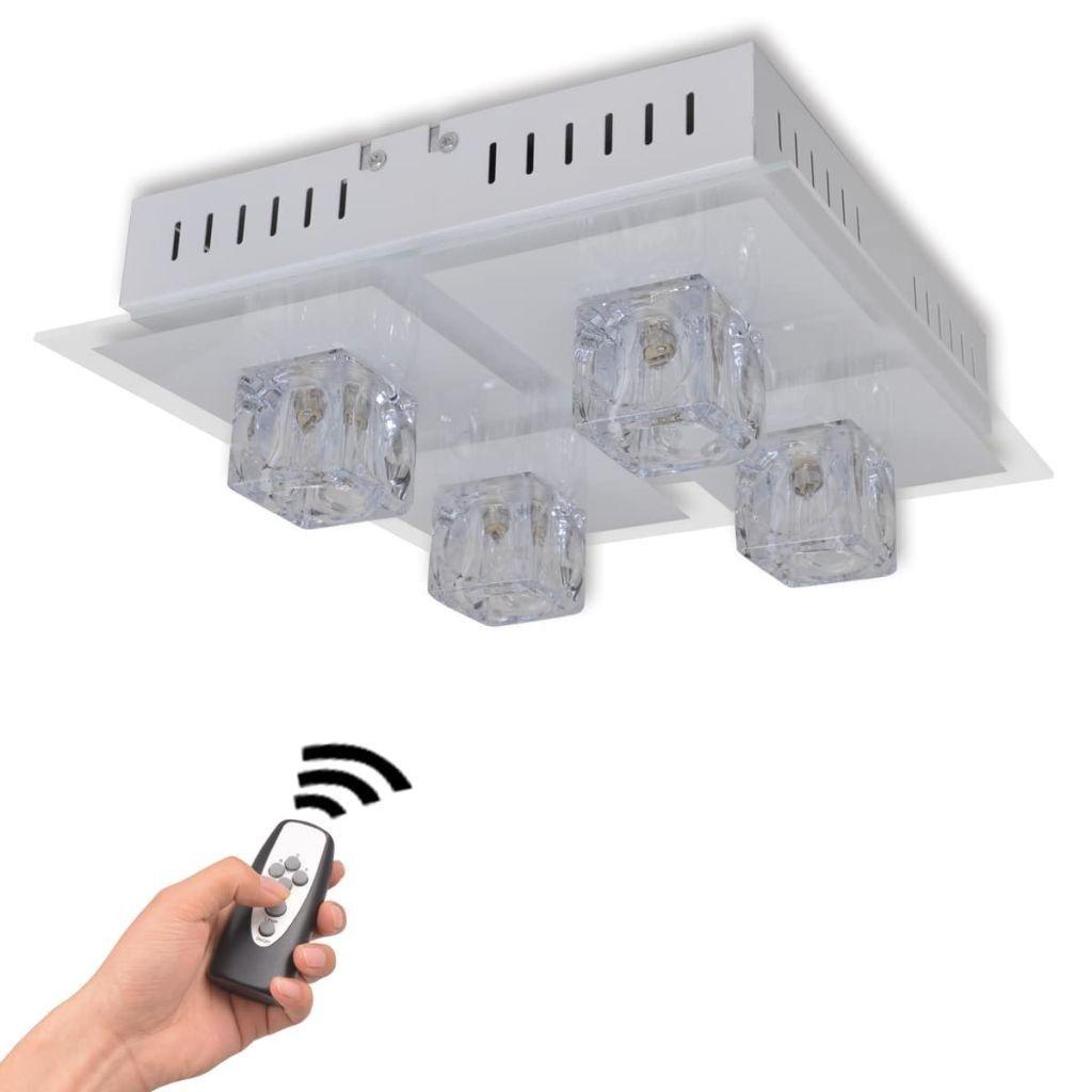 Deze Functionele Plafonniere Met Vier Lampen Heeft Een Modern Ontwerp En Maakt Gebruik Van Led Technologie De Lamp Heeft 4 G9 Peren Di Lampen Led Plafondlamp