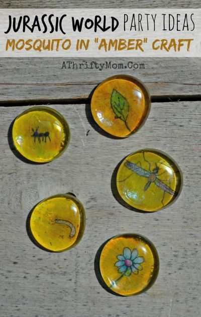 Jurassic World Party Ideas ~ Mosquito In Amber Craft for Kids #jurassicparkworld