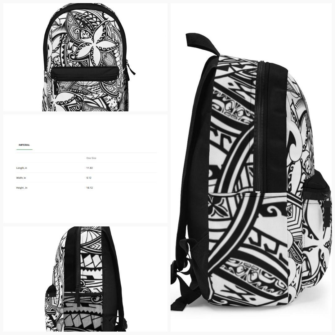 Vintage Polynesian Tribal Designer Backpack (Made in USA