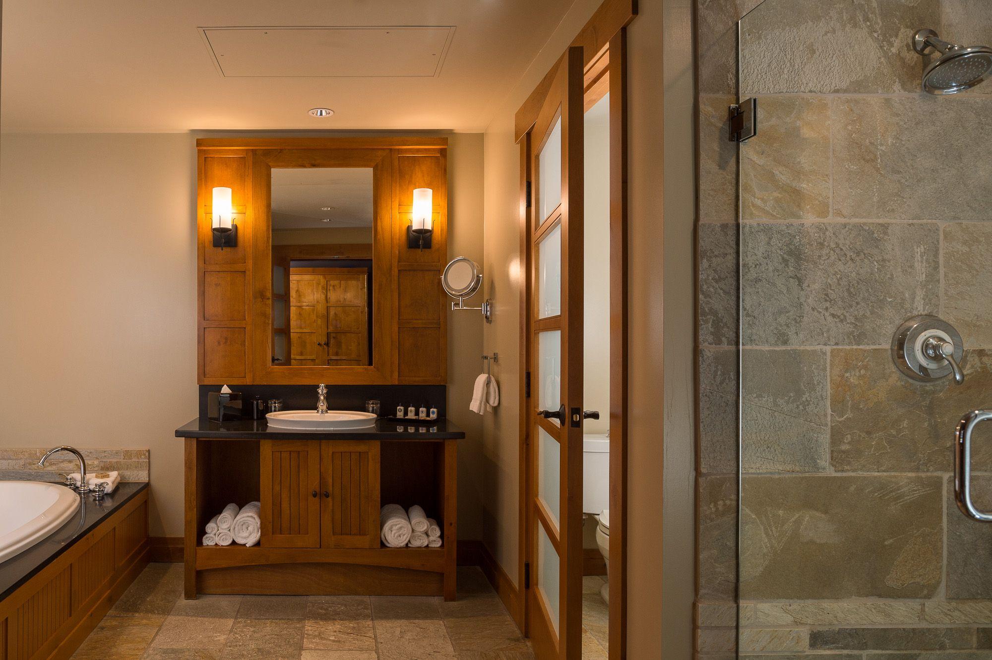 Suite Bathroom at Nita Lake Lodge, Whistler BC