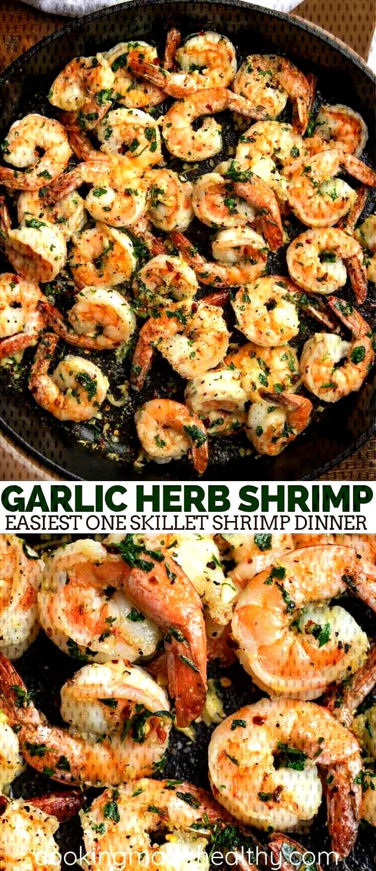 Garlic Herb Shrimp made with olive oil, fresh herbs, lemon and garlic. This is t...#fresh