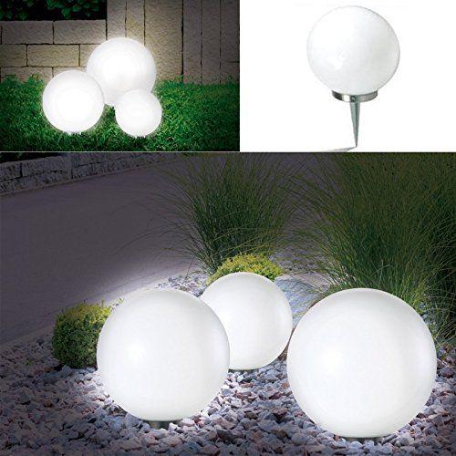 Lampe boule 30 cm solaire design | Luminaire pour jardin | LED, Eggs ...