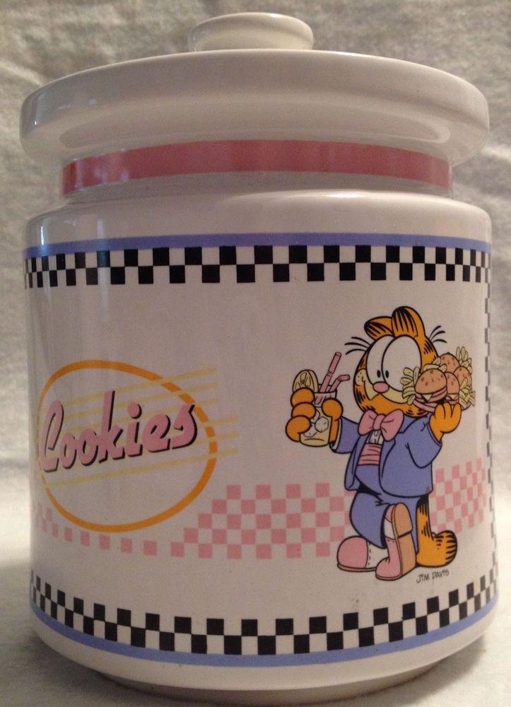 Garfield Cookie Jar Very Rare 1978 Garfield Cookie Jar Made In Taiwanenesco