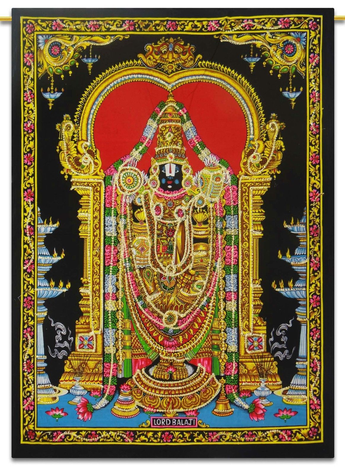 Lord Balaji Cotton Indian Wall Hanging Tapestry Poster Boho ...