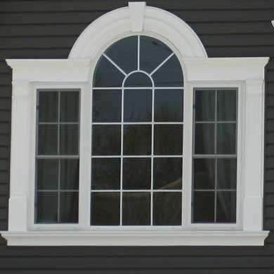 Windows Royal Homes Window Trim Exterior Arched Windows Exterior Window Molding