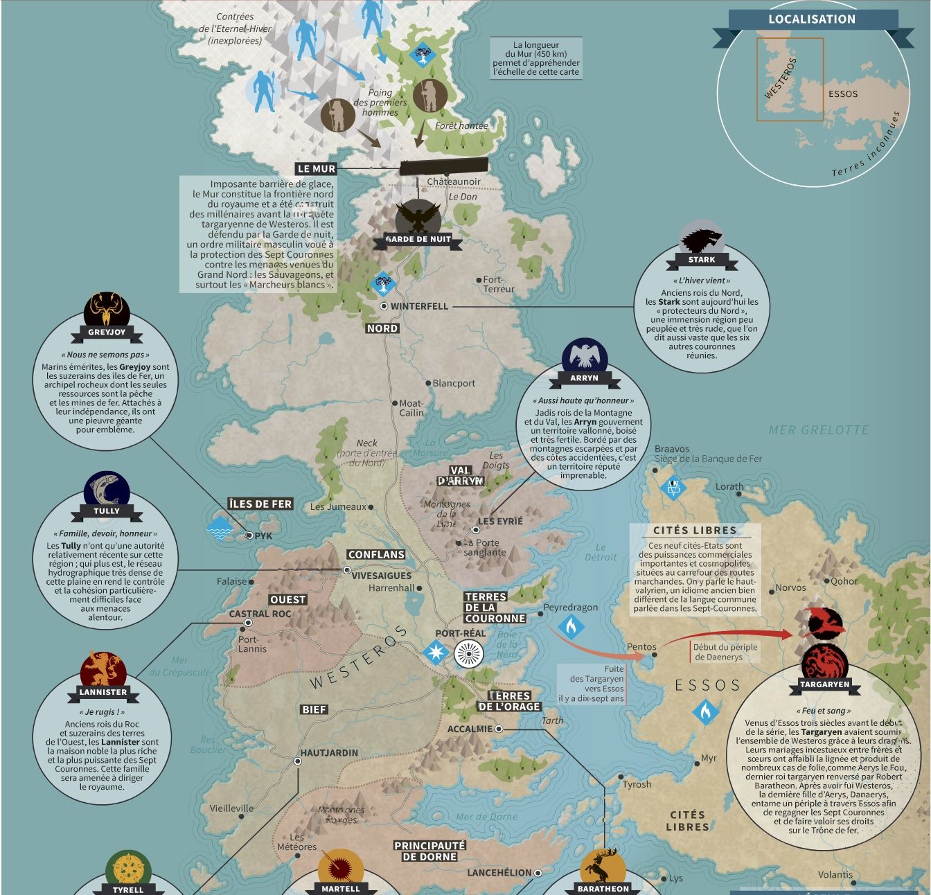 games of thrones carte La Carte de GOT en détail (avec images) | Carte de game of thrones