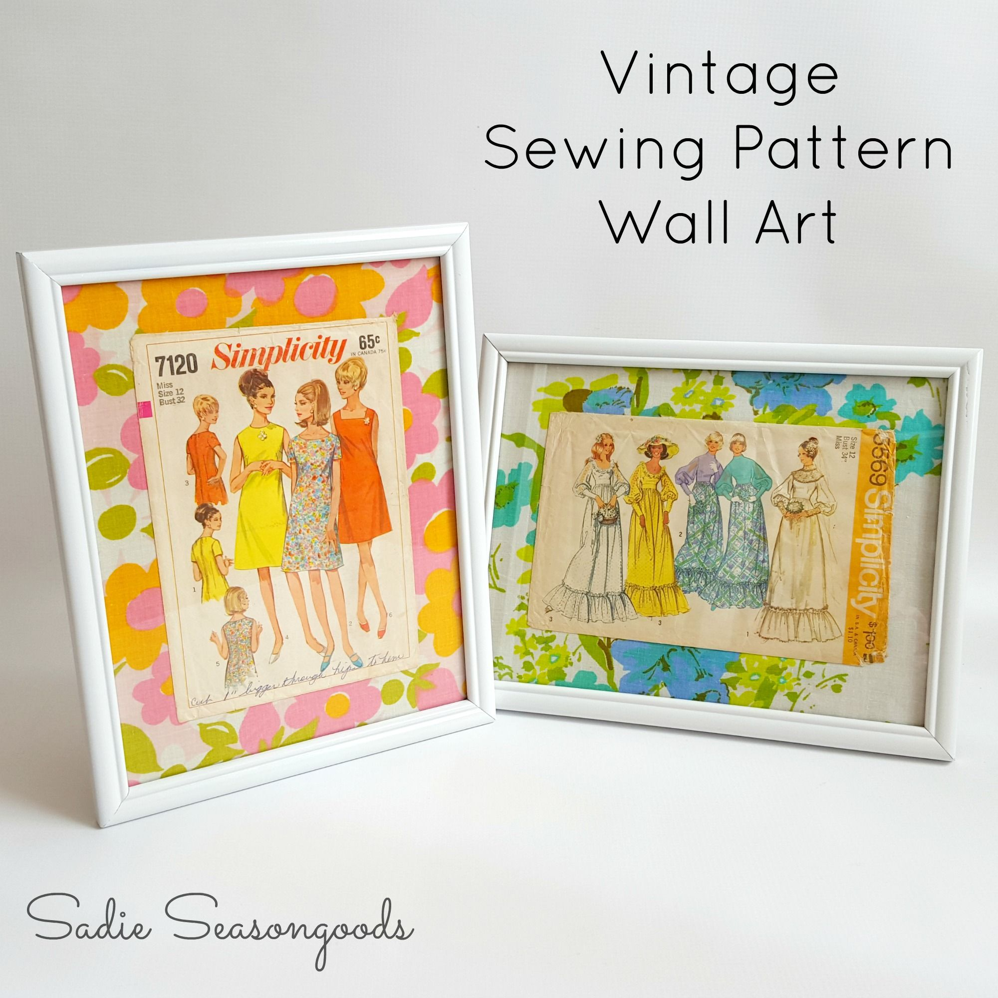 Fashion Wall Art using Repurposed Vintage Sewing Patterns | Sewing ...
