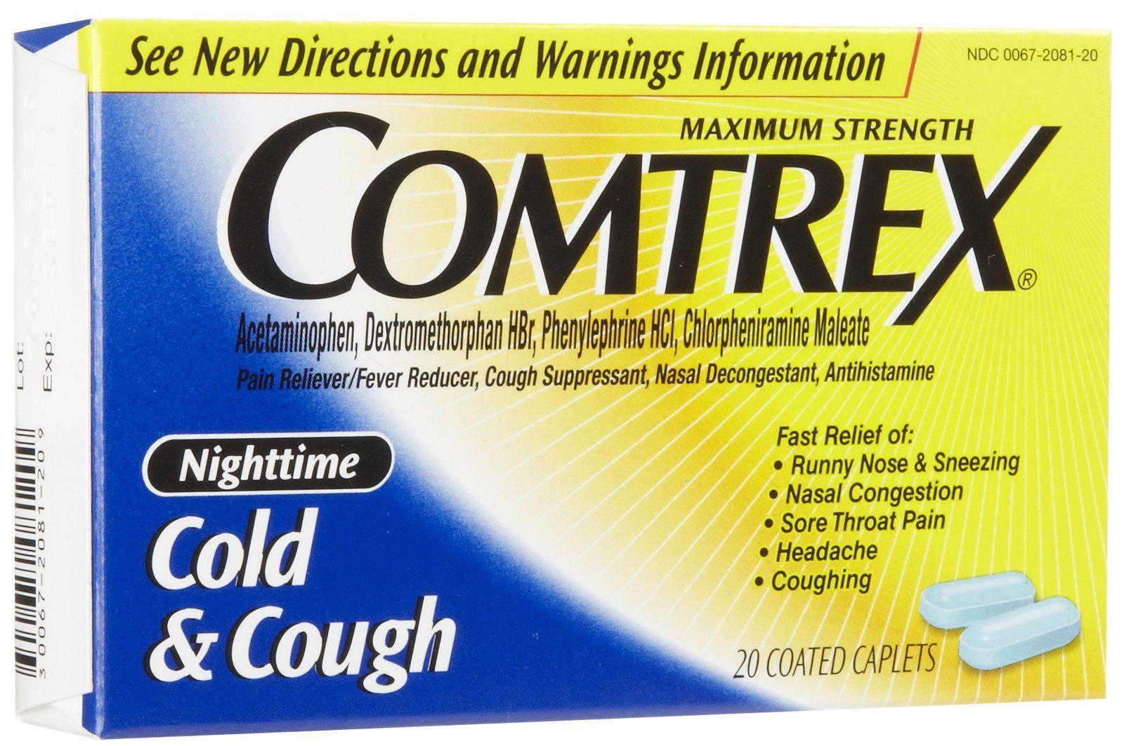 أقراص كومتركس Comtrex لعلاج أعراض البرد و الإنفلونزا Diab Roboter