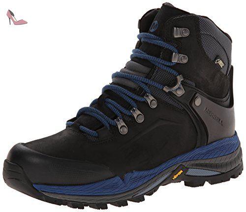 Merrell - Crestbound - Chaussure de randonnée - Femme - Multicolore (Noir/ Bleu)