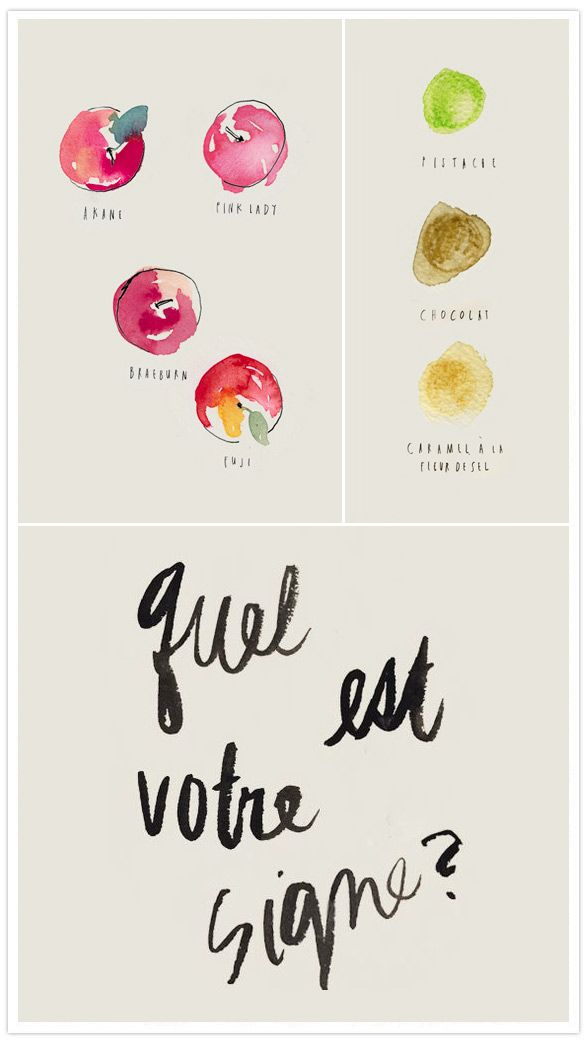 Love naïve watercolors and hand lettering...