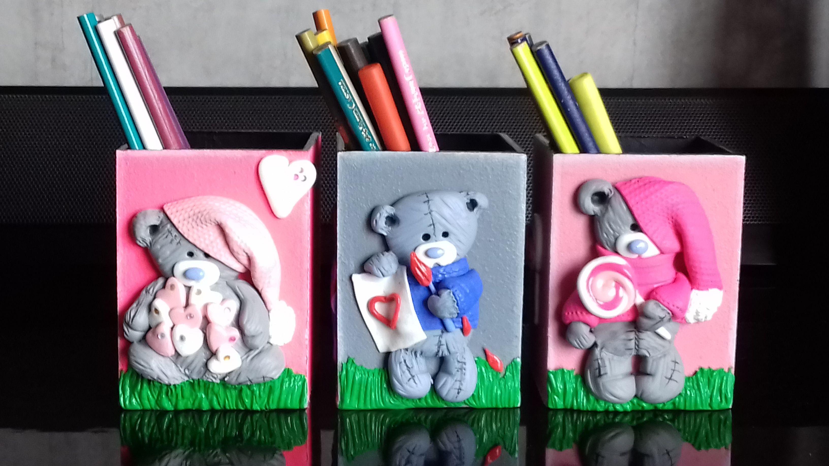 Porta lapiceros en trupan y ceramica | Porta lápices