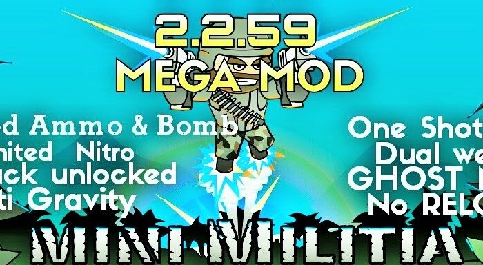 Mini Militia 3 0 136 Mega Mod Pro Pack: One shot kill mod
