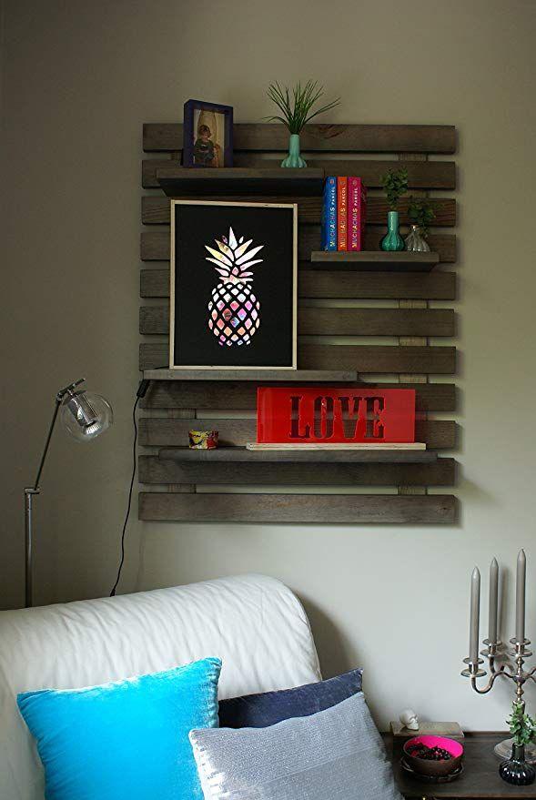 LIZA LINE Decorative Wooden Wall Shelf, Bookcase, Bookshelf. Storage ...