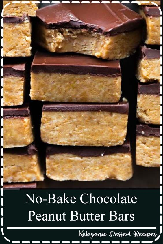 No-bake chocolate peanut butter bars are thick, rich, and decadent. Made from only 5 simple ingredients, these are a delicious treat anytim