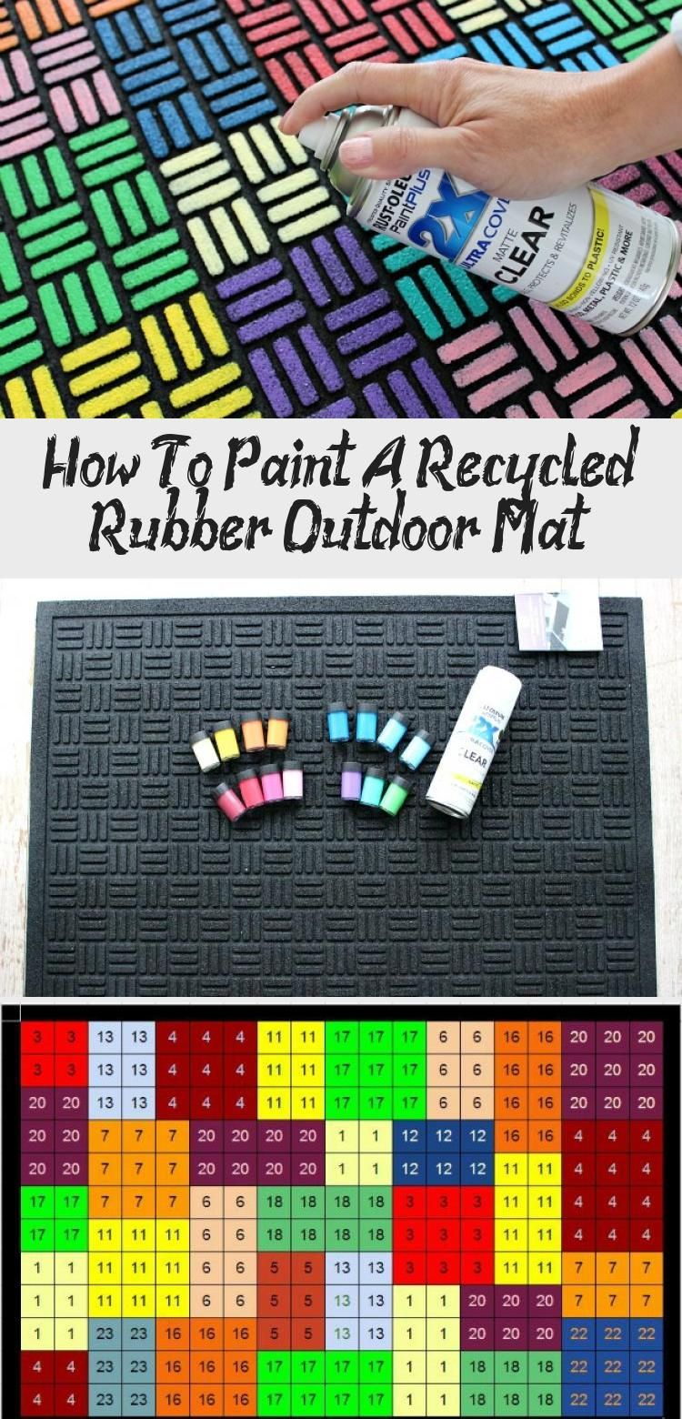 How To Paint A Recycled Rubber Outdoor Mat in 2020