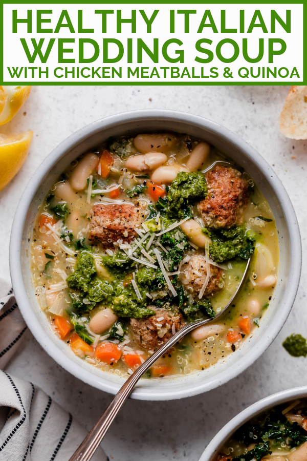 Healthy wedding soup with chicken meatballs Recipe