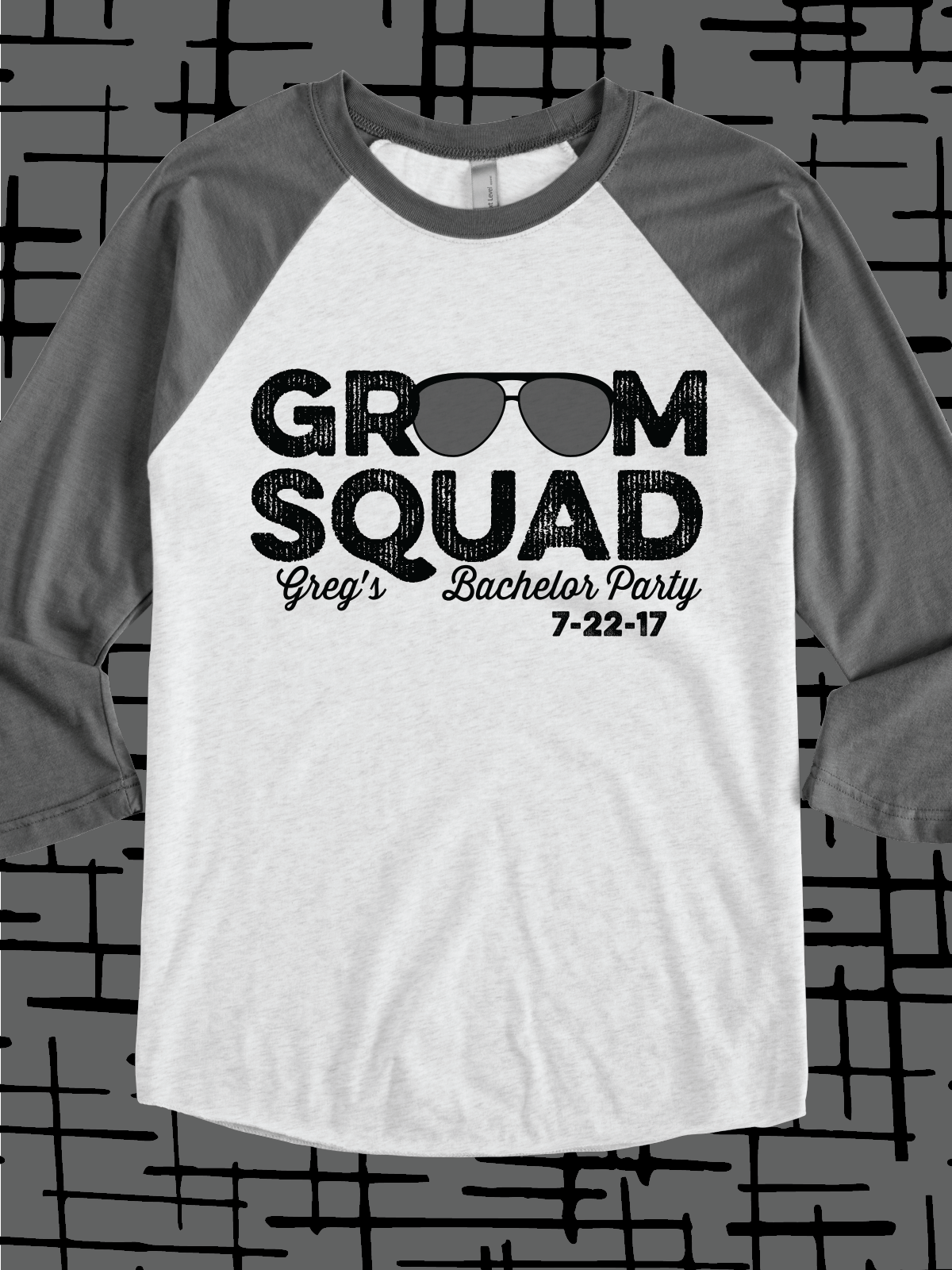 af471c5b Groom Squad design idea for custom bachelor party t-shirts, raglans,  hoodies, bags, hats, cups, and more #wedding
