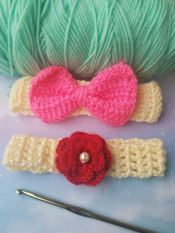 aa9c04c6832 Pin by felysosacrafts on baby girl headbands crochet headband