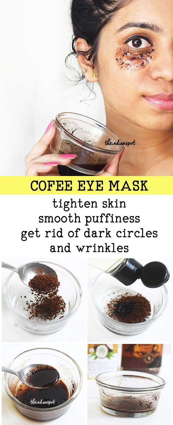 COFFEE EYE MASK TO GET RID OF DARK CIRCLES (With images