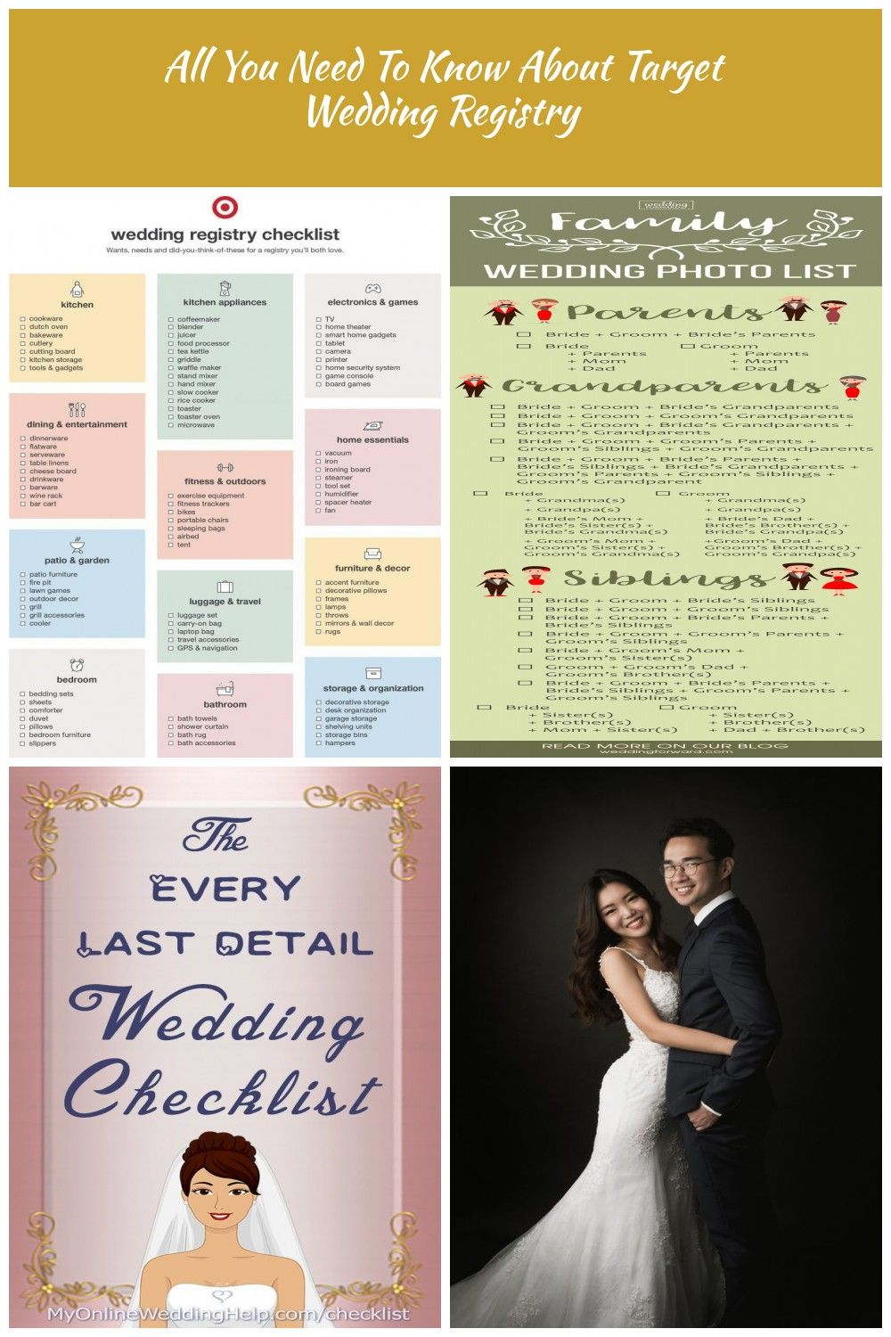 Target Wedding Registry Checklist Wedding Checklist All You Need To Know About Target Wed Target Wedding Registry Wedding Registry Checklist Wedding Photo List