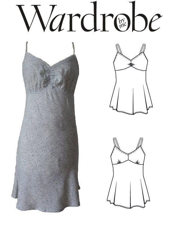 Baby doll slip dress PDF sewing pattern for women/ Ladies slip dress ...