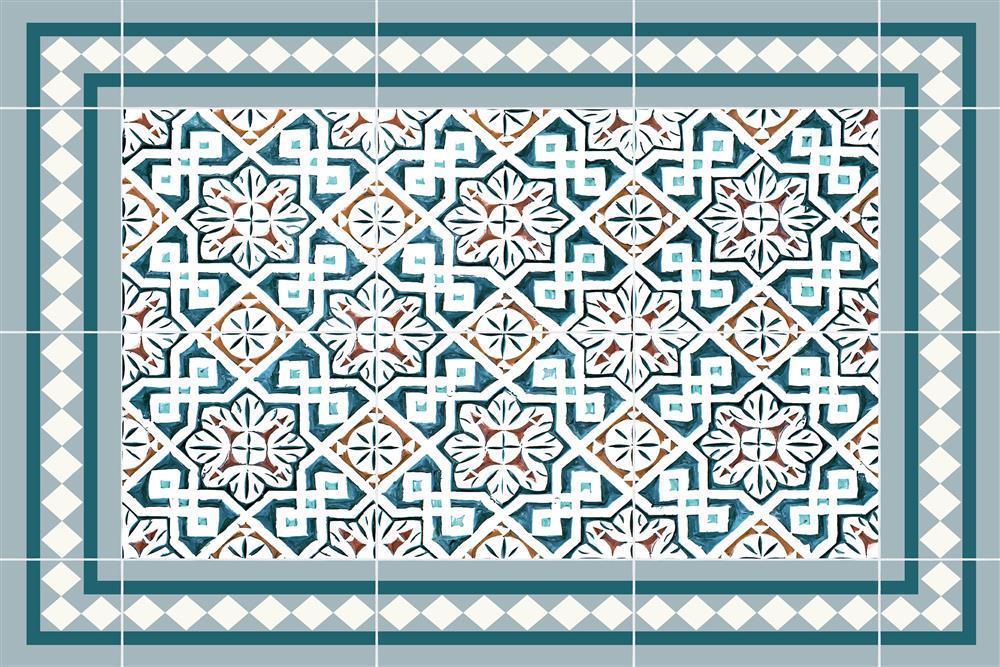 Vinyl Teppich Matteo Tiles Morrocan Blue Teppich Vinyl Teppich Kuche
