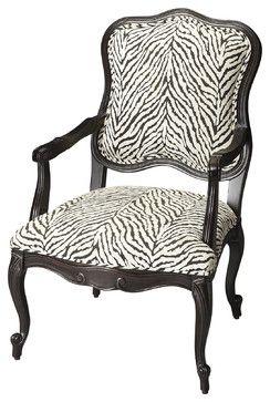 Zebra Pattern Jacquard Accent Chair 597 00 Accent